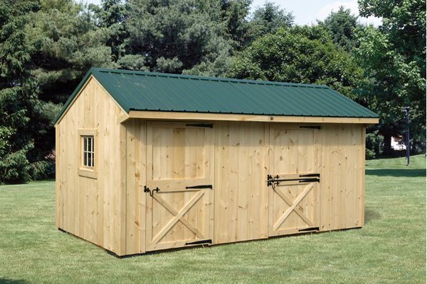 10X18 Wood  Shed Row Horse Barn, Metal Roof & Tack