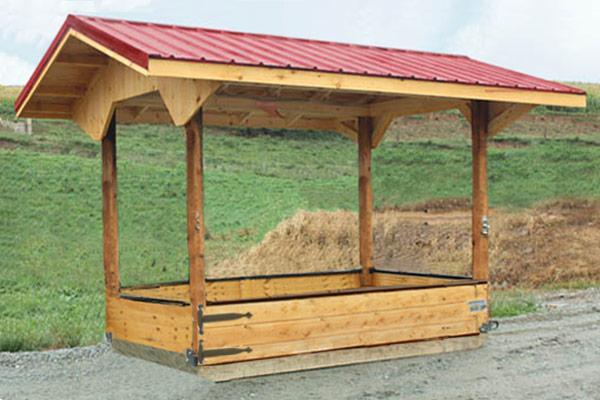 6x10 Economy Assembled Big Bale Feeder