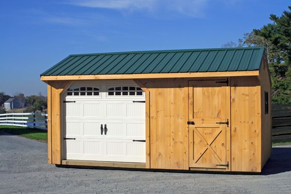 12x30 Garage/Woodshed Combo.  Warm, dry and beautifully functional!
