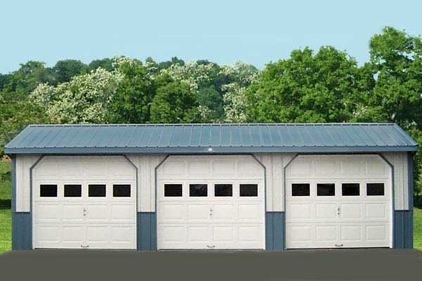 A 3-car garage by Windy Hill Sheds and Barns.