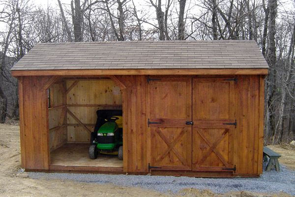 10X18 Wood Storage Combo with Shingle Roof & Wood Siding