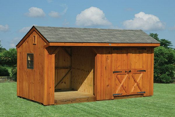 10X18 Wood Storage Barn Woodshed