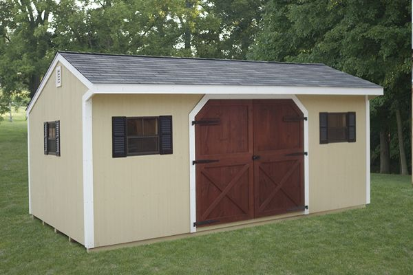 12X20 Storage with Carriage House Doors