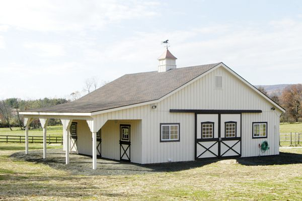 36x26 Modular Horse Barn - Front View