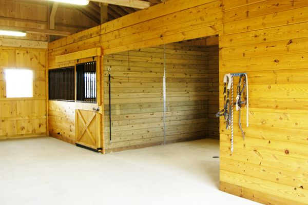 Modular Horse Barn 12x12 Wash Room