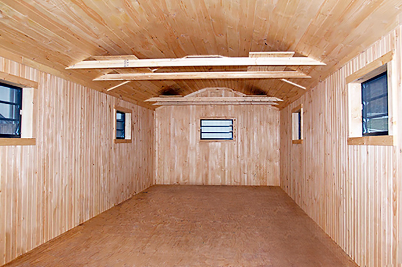 12x30 Storage Barn, Inside Finished