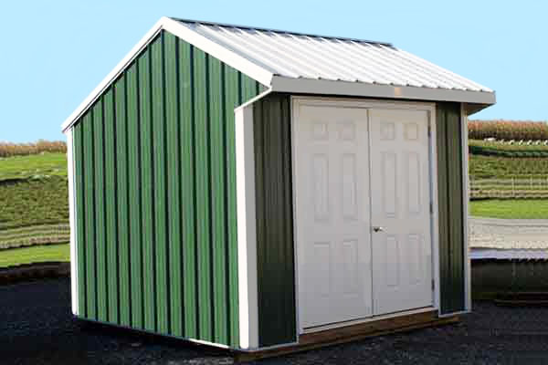 10X10 Metal Storage Shed, Double Doors
